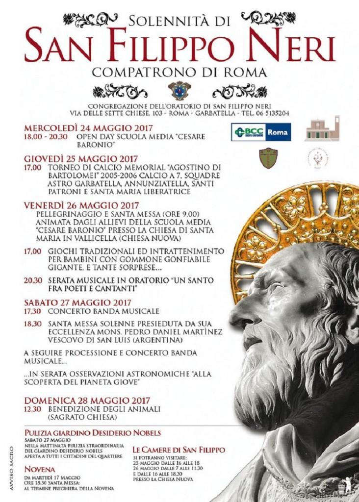 Festa di San Filippo Neri in Eurosia a Roma Garbatella